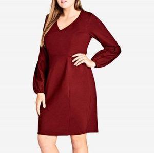 Fancy sleeve sweater dress
